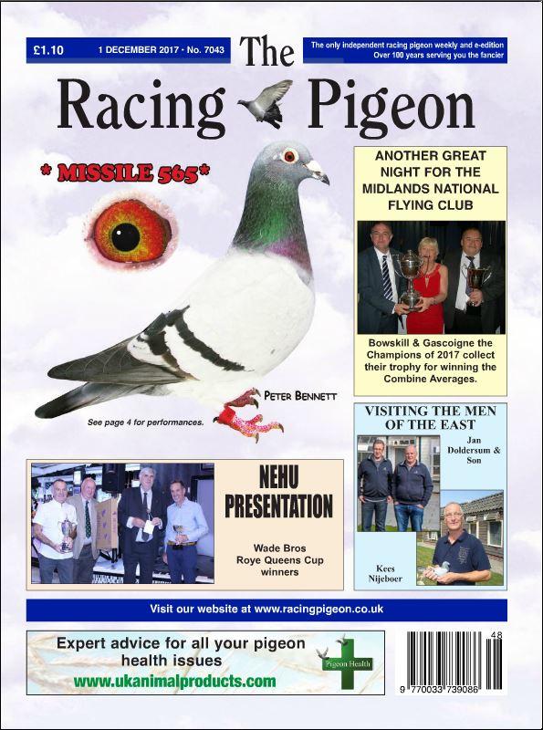Onze kampioenen in The Racing Pigeon van 1 december 2017